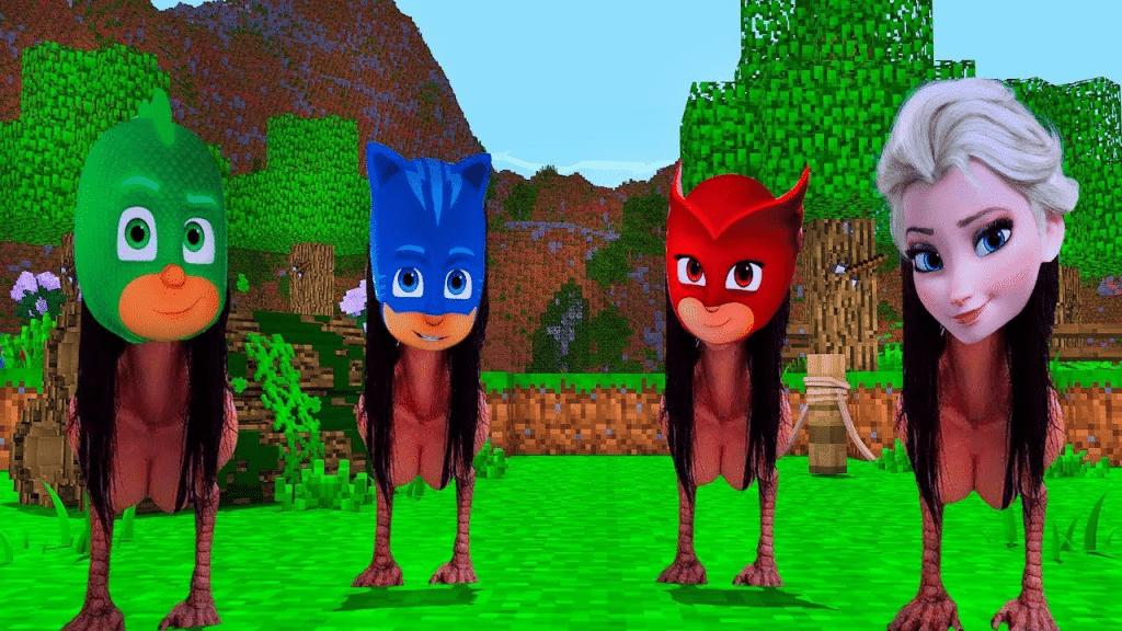 детские персонажи с телом момо